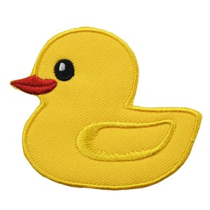 Wholesale Yellow Duck Funny Cute Animal Sew Iron on Patch Embroidered For Clothing Caps Iron on Transfer Applique Decoration for Bags Jeans DIY