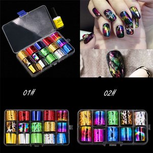 wholesale 15 Colors Nail Art Stickers Foil Decal Tips Transfer Manicure DIY Nail Decoration Drop Shipping 80314