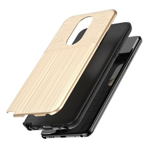 Wholesale Hybrid Brushed Armor Case For LG Stylo LG Aristo Plus Motorola Moto E5 Plus E5 Play Dual Layer Protector Cover D