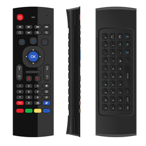 Wholesale X8 MX3 Air Fly Mouse GHz Wireless Keyboard Remote Control Somatosensory IR Learning for T95 MXQ PRO X96 H96 Android TV Boxes