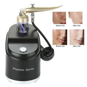 Wholesale DHL Portable Oxygen Facial Spray Jet Water Peel Sprayer Injection Skin Rejuvenation Acne Removal Face Cleansing Spa Use