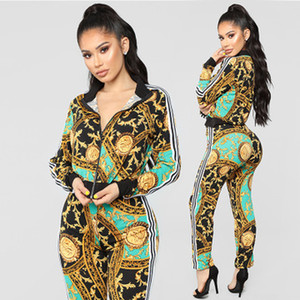Wholesale Factory direct autumn hot sale European and American women s clothing fashion casual sports suit two piece