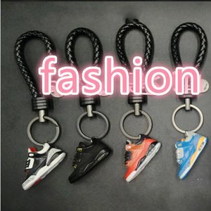 3D PVC Basketball Shoes Keychains Silicone Stereoscopic Sneaker Shoes Keyrings For Woman Man Gifts DIY Fashion Accessories