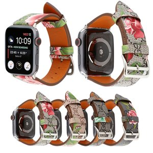 Leather Loop for iwatch 4 3 2 1 Strap for Apple Watch Band 38mm 42mm 40mm 44mm Flower Design top quality