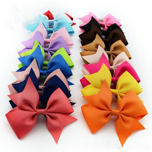 Wholesale high quality grosgrain ribbon bows for hair bows children hair accessories baby hairbows girl hair bows WITH CLIP spring