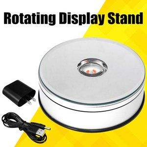Wholesale USB LED Light Degree Rotating Display Stand Jewelry Top Holder Turntable Showcase Photography Photo Studio Accessories Kit