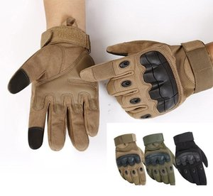 Wholesale Outdoor Sports Tactical Gloves Shooting Full Finger Gloves Paintball Carbon Hunting Hard Knuckle Gloves Tactical equipment D0487
