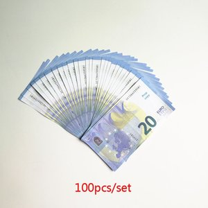 Fake Money 10 20 50 100 Euro Bills faux billet Sticker kids learning Tool Movie Props Party Toy High Quality 100pcs set on Sale