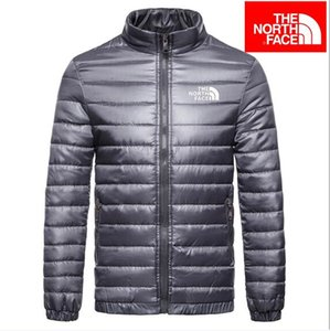 Wholesale fashion Mens Spring Autumn Down Jackets Thin Slim Fit Coats Cotton padded Solid Color Long Sleeved Jacket Outerwear Five Colors