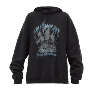 Wholesale 2020 Loose Casual VETEMENTS Thick Pirate Ship Hoodies Men Women Hooded Streetwear Hip Hop Embroidery Vetements Sweatshirts