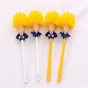 Wholesale Stock Trump Toilet Brushes Shower Room Plastic Handle Brush Household Cleaning Tools Funny Simple Practical Home Supplies cm