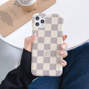 Luxury PU Leather Case For iPhone 11Pro 11 Pro Max X XS Max XR 8 7 6S Case Brand Back Phone Cover Protection Coque