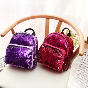 Wholesale 2019 Fashion Mermaid Sequin Backpack Girls Female Korean Trend Cool Personality Small Backpacks Women Glitter Shoulder Bags Travel Bag M183F