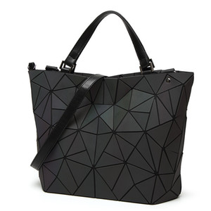 Wholesale Geometry women s handbags sac Japan style luminous women bags Brand Design tote Ladies shoulder crossbody bag female Purse Y190606