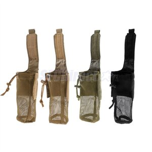 Outdoor Foldable Mesh Water Bottle Carrier Drinking Bottle Pouch Molle Bag Holder for Hunting Fishing Vest Belt #226014