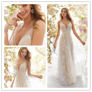 Wholesale New Wedding Dresses Bride Clothing Marriage Hosting Party Catwalk Performance Dress Chiffon Lace Sleeveless Dresses Sexy Pure White Dresses