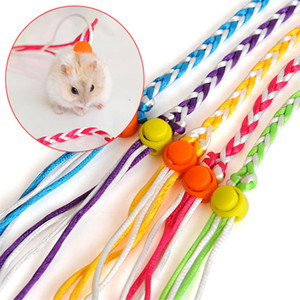 1.4m Adjustable Pet Hamster Leash Harness Rope Gerbil Cotton Rope Harness Lead Collar Rat Mouse Hamster Pet Cage Leash yq01171