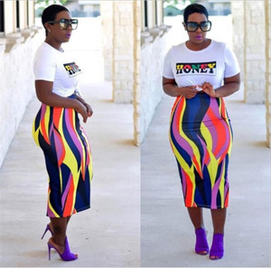 Wholesale New African Dresses African Clothing Polyester Women s Fashion Products Printed Bag Hip Skirt Women Dress Set