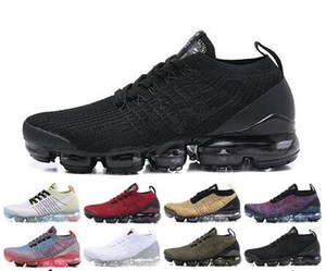 Wholesale vapor max for sale - Group buy 2019 Newest Arrivals Vapors Women mens shoes Triple black white red trainers Sports designers Sneakers Running Maxes Shoes Size