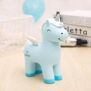 Wholesale Unicorn Coin Saving Money Box Cute Unicorn Piggy Bank Cartoon Pony Animal Piggy Bank Home Decoration Kid Birthday Gift Styles BC BH0943