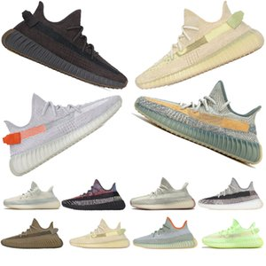 Wholesale womens sneakers sale resale online - Hot Sale Earth Tail Light Sulfur Abez Cloud White Cinder Black Non Reflective Kanye West Running Shoes Men Womens Sneakers Size US4