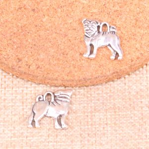Wholesale 18pcs dog Charms mm Antique Silver Plated Pendants Fit Jewelry Making Findings Accessories