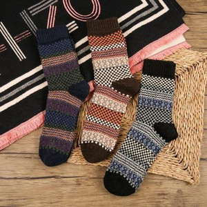 Wholesale High Quality Vintage Wool Socks Men Stocking Comfortable National Wind Socks Warm Winter For Adult Male Gifts Casual Thick Stockings M159Y