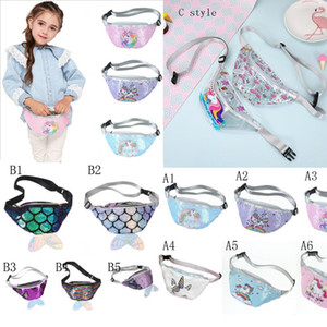 Wholesale fabric money bags for sale - Group buy Multi Design HOT Mermaid Tail Sequins Coin Purse Zipper kids coin bag sling money card fashionable Mermaid Waist purse