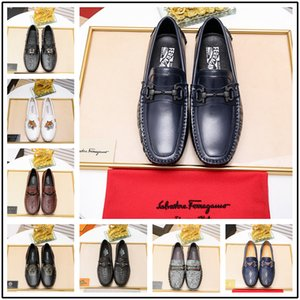 Wholesale Mix Model Luxury Shoes Men Italy Designer Luxury Dress Shoes Mens Wedding Shoes Gift Printed Size With Box