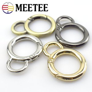 Wholesale Round O Rings Openable Metal Bag Buckles Leather Handbag Belt Strap Dog Chain Buckle Snap Clasp Trigger DIY Accessory F1-26