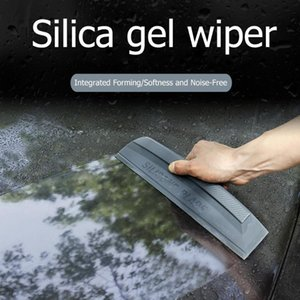 Wholesale Silicone Blade Car Wash Water Wiper Soap Scraper Squeegee Auto Window Cleaner Silica Gel Integrated Moulding Durable