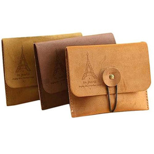 Women Men Vintage Eiffel Tower Coin Purse Small Fold Key Pouch Wallet Bag small purse monederos para mujer monedas mini bag NEW #111669 on Sale