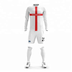 Wholesale High quality long sleeve low price jersey football shirt soccer team uniforms boys soccer jerseys sets