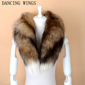 Wholesale Men Women Genuine Fox Fur Scarf Real Natural Fox Fur Collar Scarves Wraps Good Quality Fur Ring Muffler D19011004