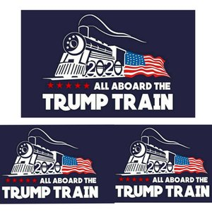 Wholesale 2020 trump car sticker Donald Trump locomotive stickers Train window Sticker Home Living Room Decor Wall Stickers MMA1744