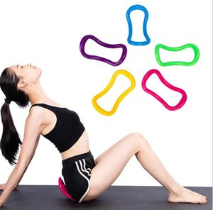 Korean Yoga Ring Magic Ring Fascia Stretch Fitness Yoga Accessories Pilates Ring Black red yellow green blue pink purple on Sale