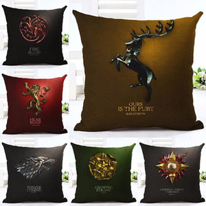 45x45cm Game of Thrones Cushion Cover Cotton Linen Chair Bedroom Seat Decorative Pillowcase Square Pillow Car-Covers