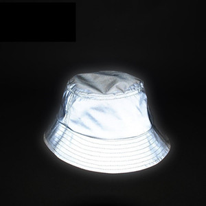 Man Women Unisex Reflective Hat Glow In The Dark Hip Hop Outdoor Summer Beach Fishing Sun Bucket Hat Bob Chapeau Caps Wfgd809 Y19070503
