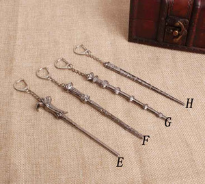 Newest Wax Tool Dab Dabber Vintage Harry Movie Inspired Magic Wand Pendant Necklace Alloy Material keychain 8 Styles Choose Fashion