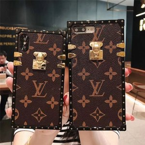 Wholesale Classic Monogram Leather Phone Case For Iphone XS Max XR X Plus Dirt resistant Letter Pattern Cellphone Shell