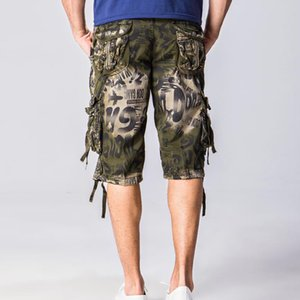 Wholesale Summer Shorts For Men European and American Style Multi pocket Loose Overalls Leopard print Camouflage Man Shorts B549