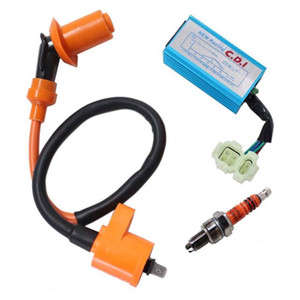 Wholesale spark plugs for sale - Group buy 1Set Igniter For GY6 cc cc Stroke Engines ATV Pin Male Plug Racing Ignition Coil Spark Plug CDI Box