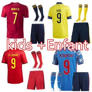 Wholesale 2020 Japan kids Soccer Jersey BALE Shirts kit Italy Sweden Belgium Spain Wales Football Shirt BALE Maillot De Foot Camiseta