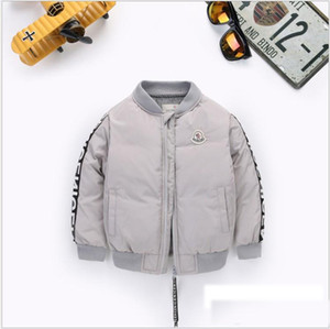 New Boys Down Parkas Winter Jacket Boys Fashion Children's Thick Jacket Children's Trench Coat 90-130cm Retail on Sale