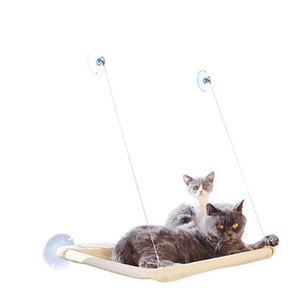 Wholesale Fast Shipping Cat Bed Hammock Bed Mount Window Pod Lounger Suction Cups Cat House Windowsill Hanging Nest cama gatoPet Products