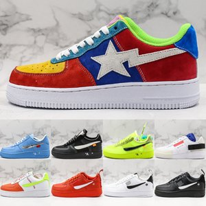 Wholesale Top Quality Forces One Low Casual Shoes For Men Women 2019 Leather Multicolor Star 07 Lv8 Utility MCA Volt Type Street Skate Sneakers