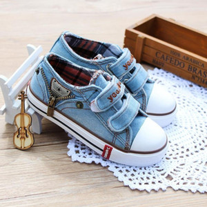 Fascinating2019 Denim Kids Girls Sneakers Boys Children Canvas Bot