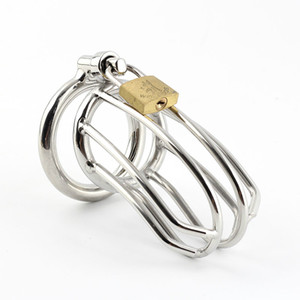 """Metal chastity Cage length 80mm(3.14""""), Stainless Steel Chastity Cage for male"""