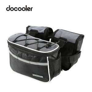 Wholesale Docooler Mountain Bike Bag Bicycle Front Tube Bag Cycling Front Frame Bags Shoulder Backpack With Rain Cover Phone