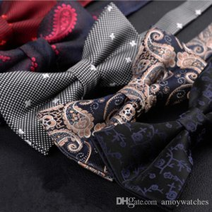 Wholesale bow ties for men business lote High quality sale Formal commercial wedding butterfly cravat bow tie male marriage